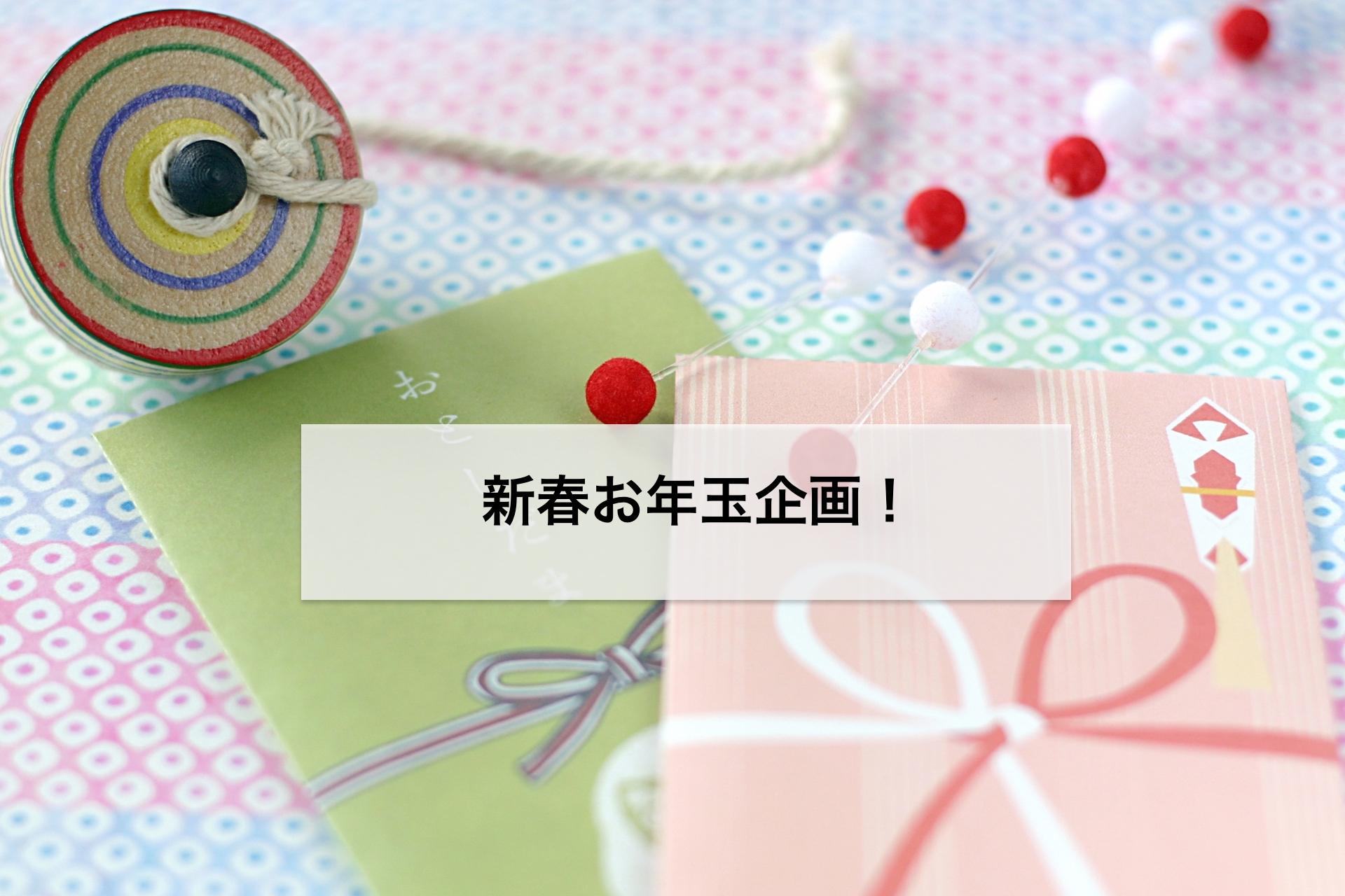 新春お年玉企画!